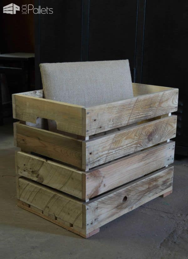 Banquette Coffre En Bois / Seat & Wooden Chest Pallet Benches, Pallet Chairs & Stools Pallet Boxes & Chests