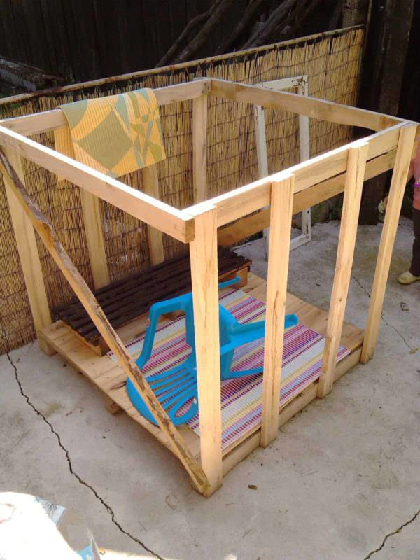 Bohemian Style Pallet Kids Playhouse Fun Pallet Crafts for Kids Pallet Sheds, Pallet Cabins, Pallet Huts & Pallet Playhouses