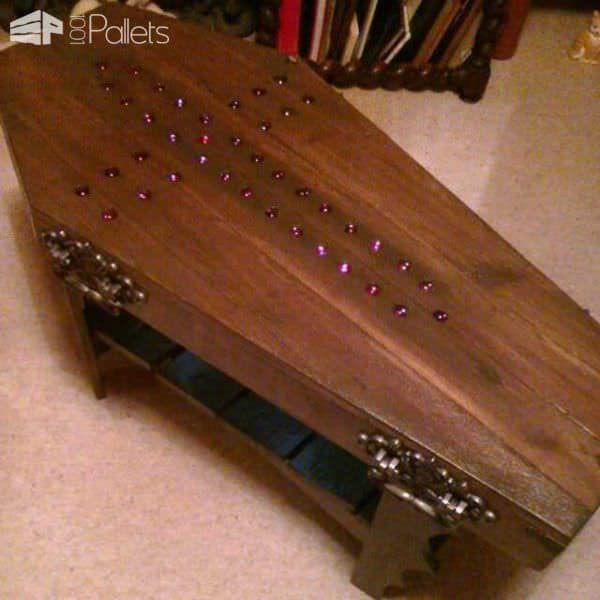 Coffin Coffee Table For My Goth Friend Pallets - Coffin coffee table