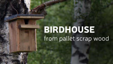 Diy Birdhouse From Scrap Pallet Wood