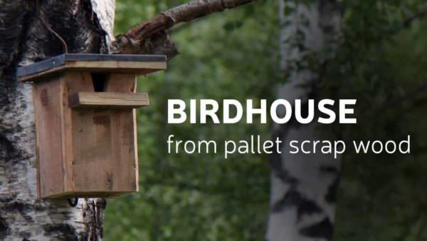 Diy Birdhouse From Scrap Pallet Wood Animal Pallet Houses & Pallet Supplies