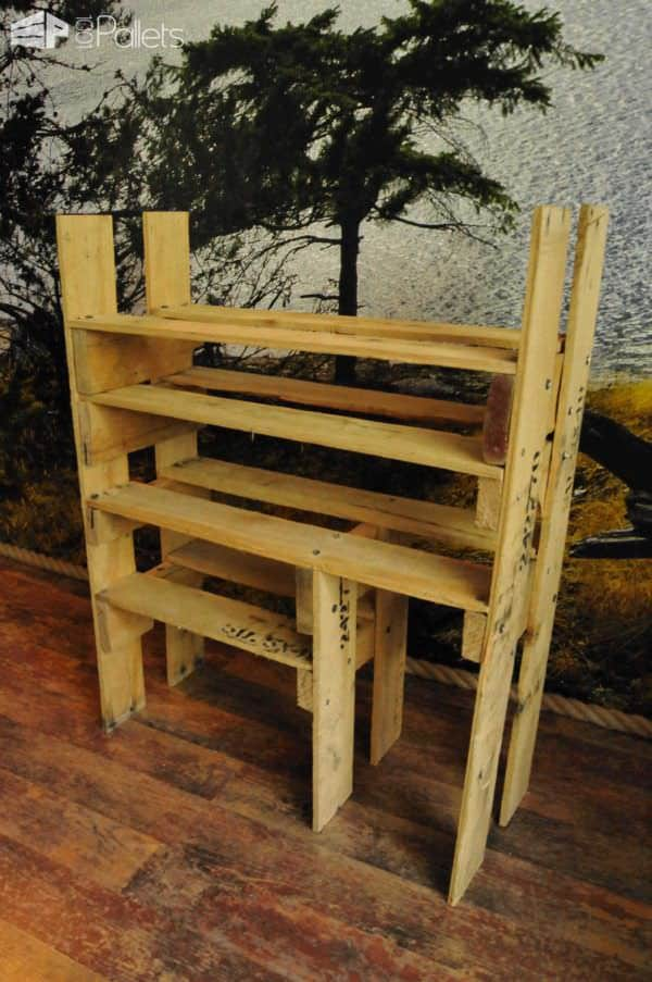 Diy: Shoe Shelf From Pallets Pallet Shelves & Pallet Coat Hangers