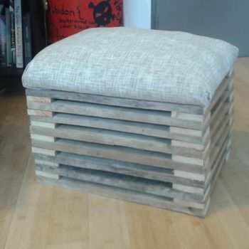 Footstool From A Single Repurposed Pallet
