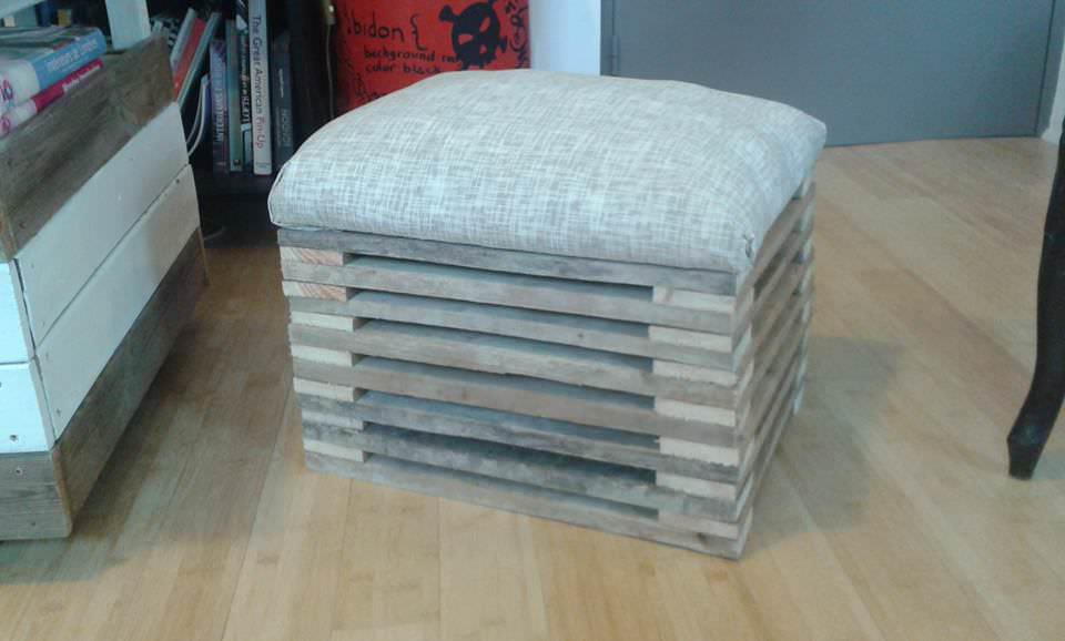 Footstool From A Single Repurposed Pallet 1001 Pallets