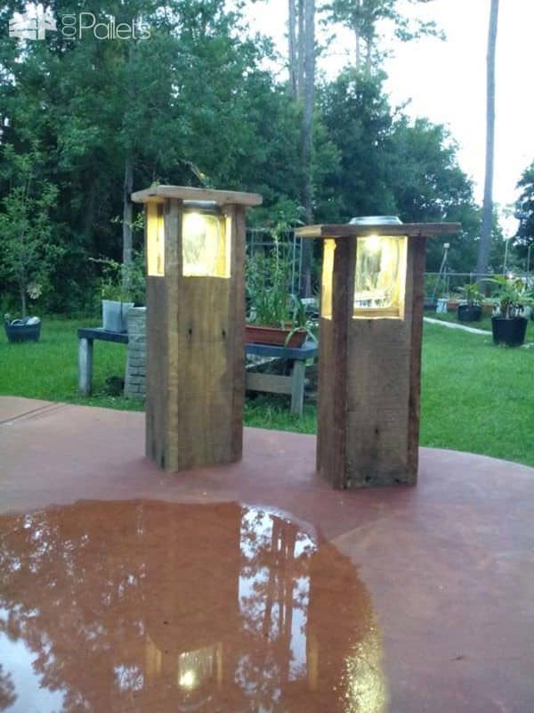 Garden Path Light From Reclaimed Pallets Pallet Lamps, Pallet Lights & Pallet Lighting