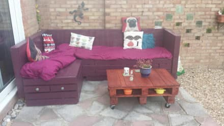 Garden Sofa & Coffee Table