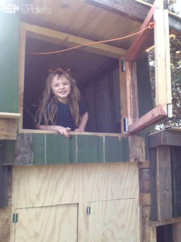 Kids Multi Story Playhouse Pallet Sheds, Cabins, Huts & Playhouses