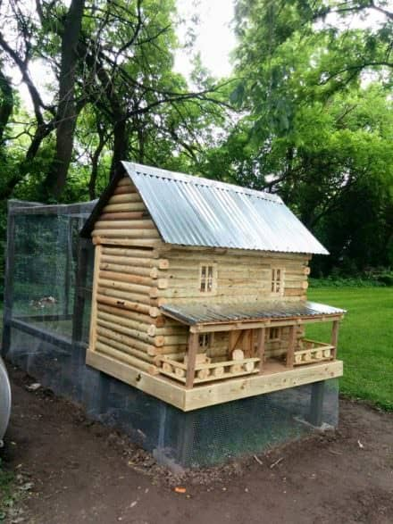 Log Cabin Chicken Coop