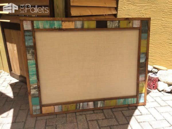 Memory Board & Picture Frames Pallet Wall Decor & Pallet Painting