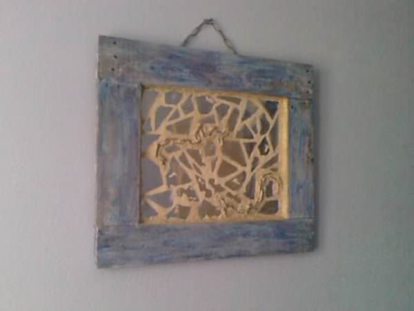 Miroir De La Mer / Mirror From The Sea Pallet Wall Decor & Pallet Painting