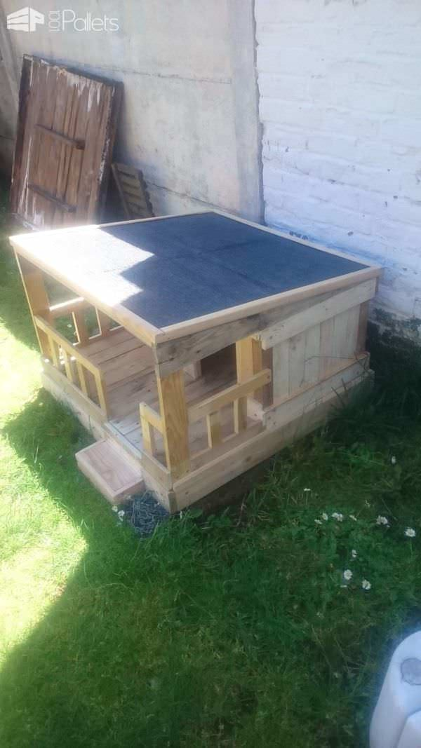 Niche En Palette / Pallet Dog House Animal Pallet Houses & Pallet Supplies