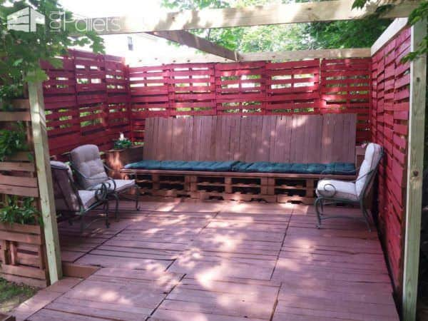 Our Pallet Backyard Lounges & Garden Sets Pallet Terraces & Pallet Patios