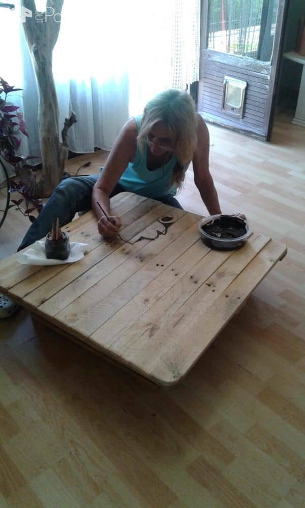 Painted Coffee Table Pallet Coffee Tables