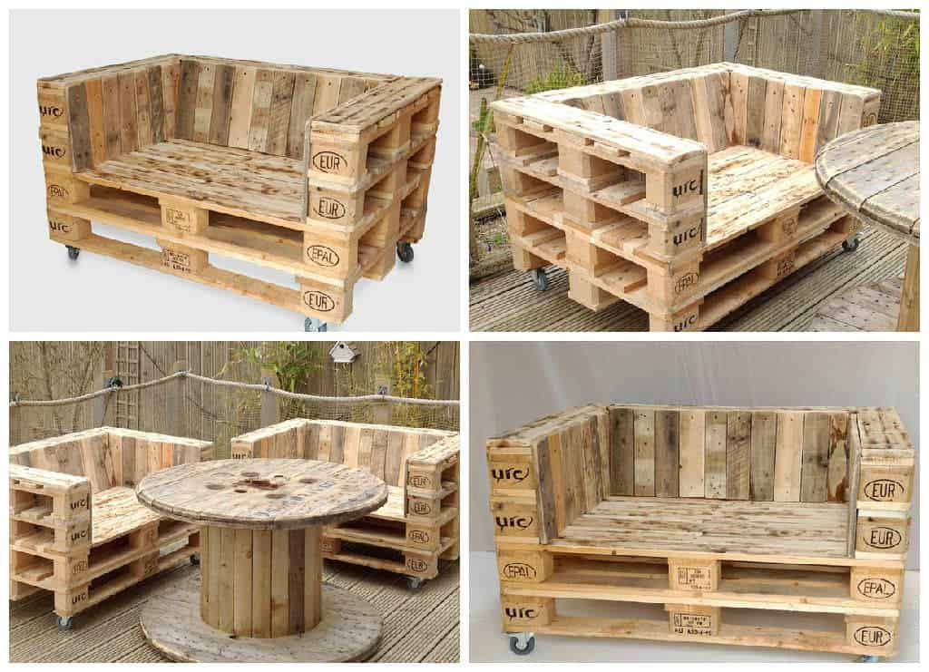 Pallet Armchair on Casters • 1001 Pallets