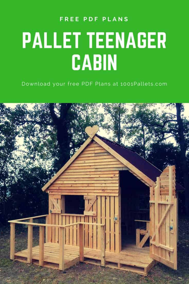 Pallet Cabin Clubhouse Build Your Own 19 Pallets Teenager Hideaway O 1001