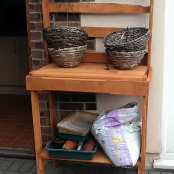 Pallet Garden Potting Bench, Planter & Firewood Shed