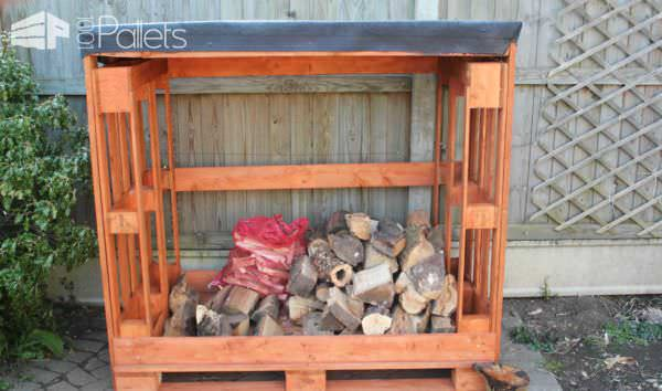 Pallet Garden Potting Bench, Planter & Firewood Shed Pallet Planters & Compost Bins