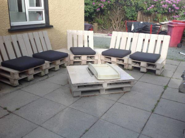 Pallet Patio Set Pallet Sofas
