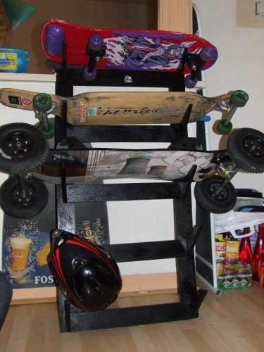 Pallet Skateboard Decks Rack Pallet Shelves & Pallet Coat Hangers