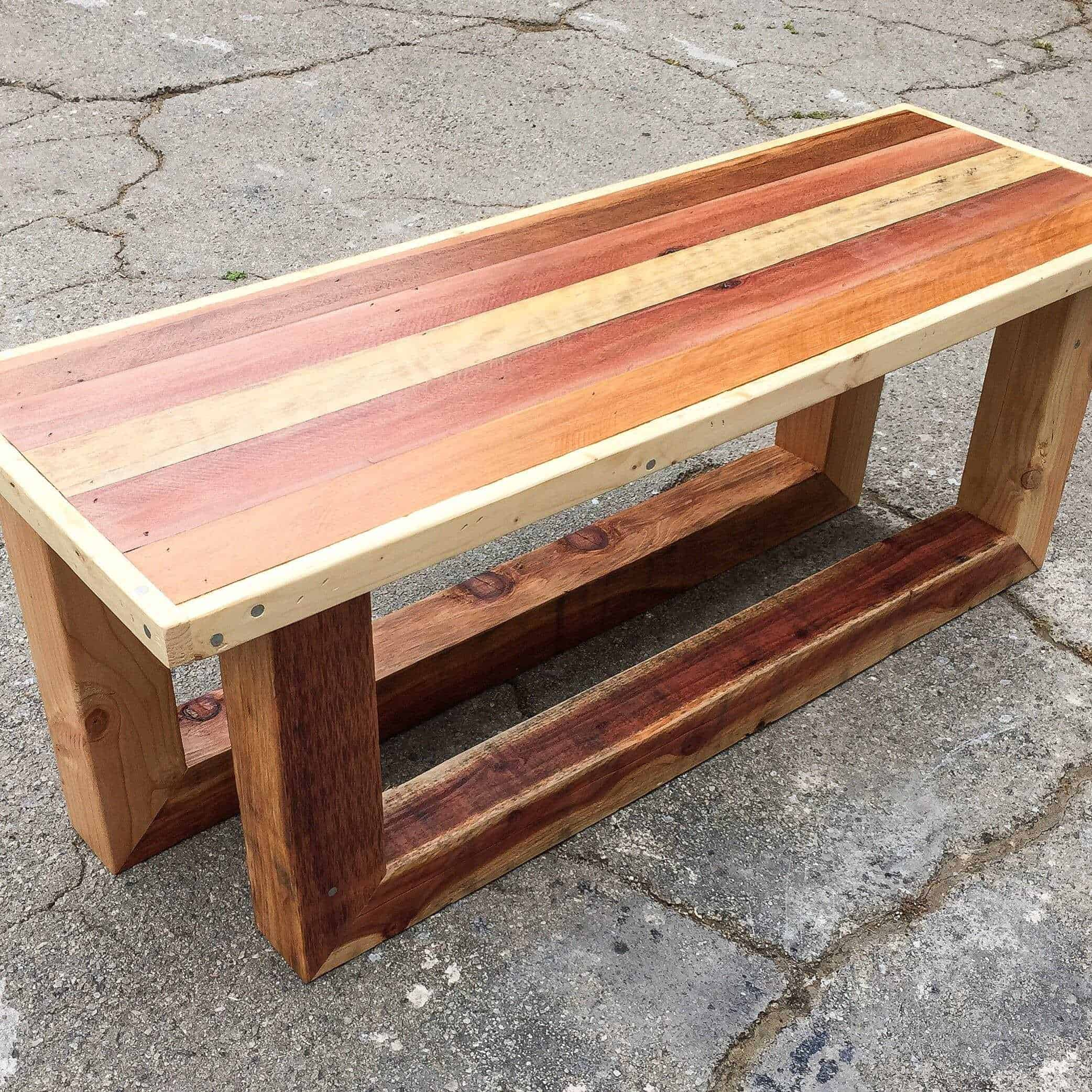 Pallet Entry Table Pallet Table Entry Way Bench Rugged Style Sled Legs O Pallet