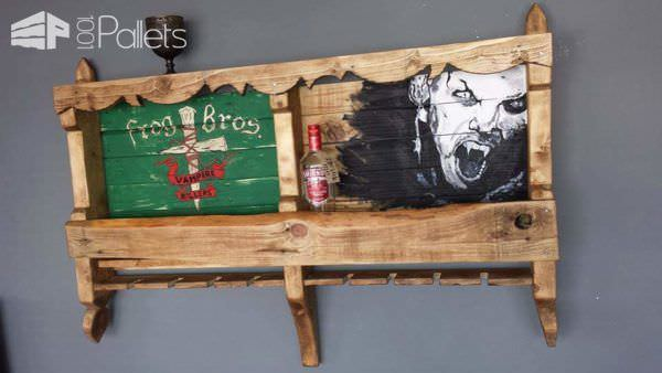 Pallet Wine Rack & Frame Art Pallet Wall Decor & Pallet Painting