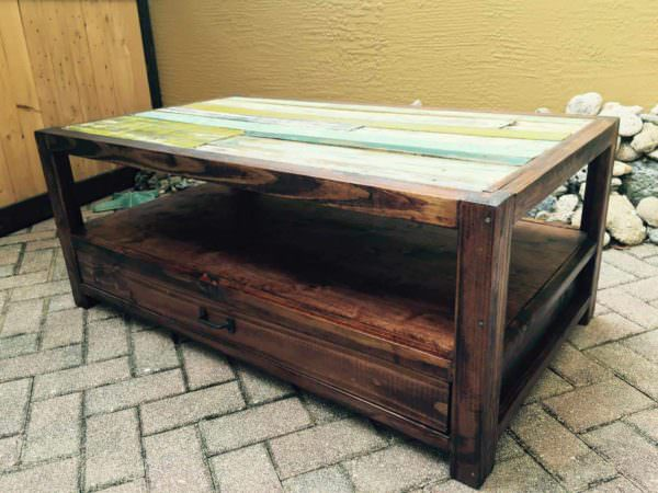 Pallets & Reclaimed Wood For A Coffee Table Pallet Coffee Tables