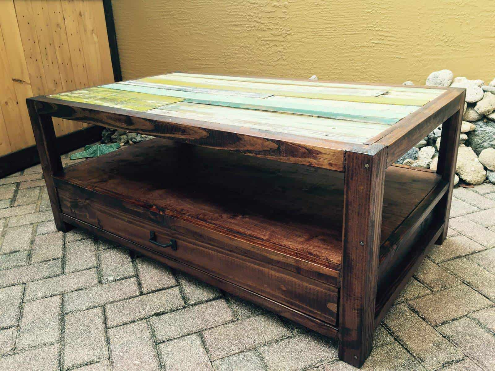 Pallets & Reclaimed Wood For A Coffee Table • 1001 Pallets