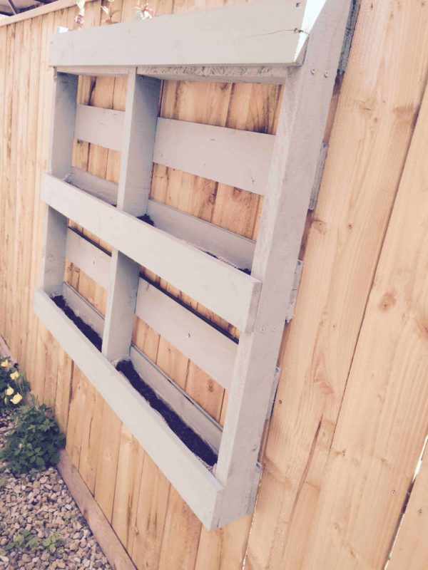 Simple Herb Planter Pallet Planters & Compost Bins