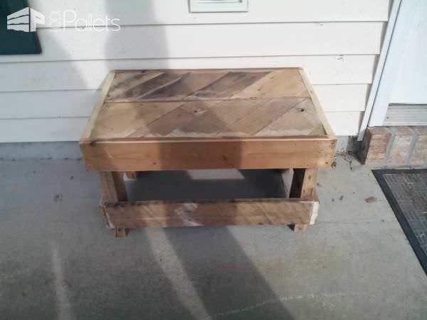 Small Pallet Bench For My Patio Pallet Benches, Pallet Chairs & Stools
