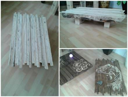 Latest recycled reclaimed pallet projects ideas 1001 pallets - Table basse original ...