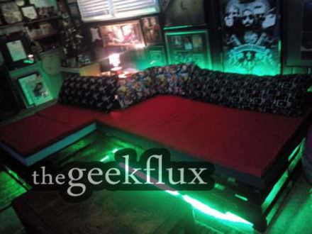 The Geek Cave Pallet Couch