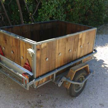 Trailer Makover With Recycled Pallet Wood