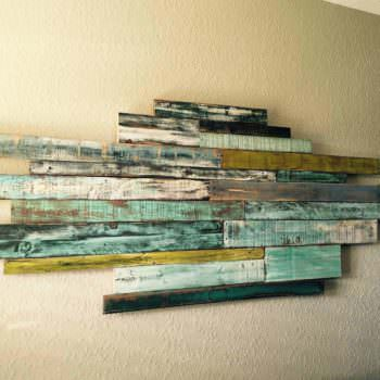 Wednesdays Wall Art  From Reclaimed Pallet Wood