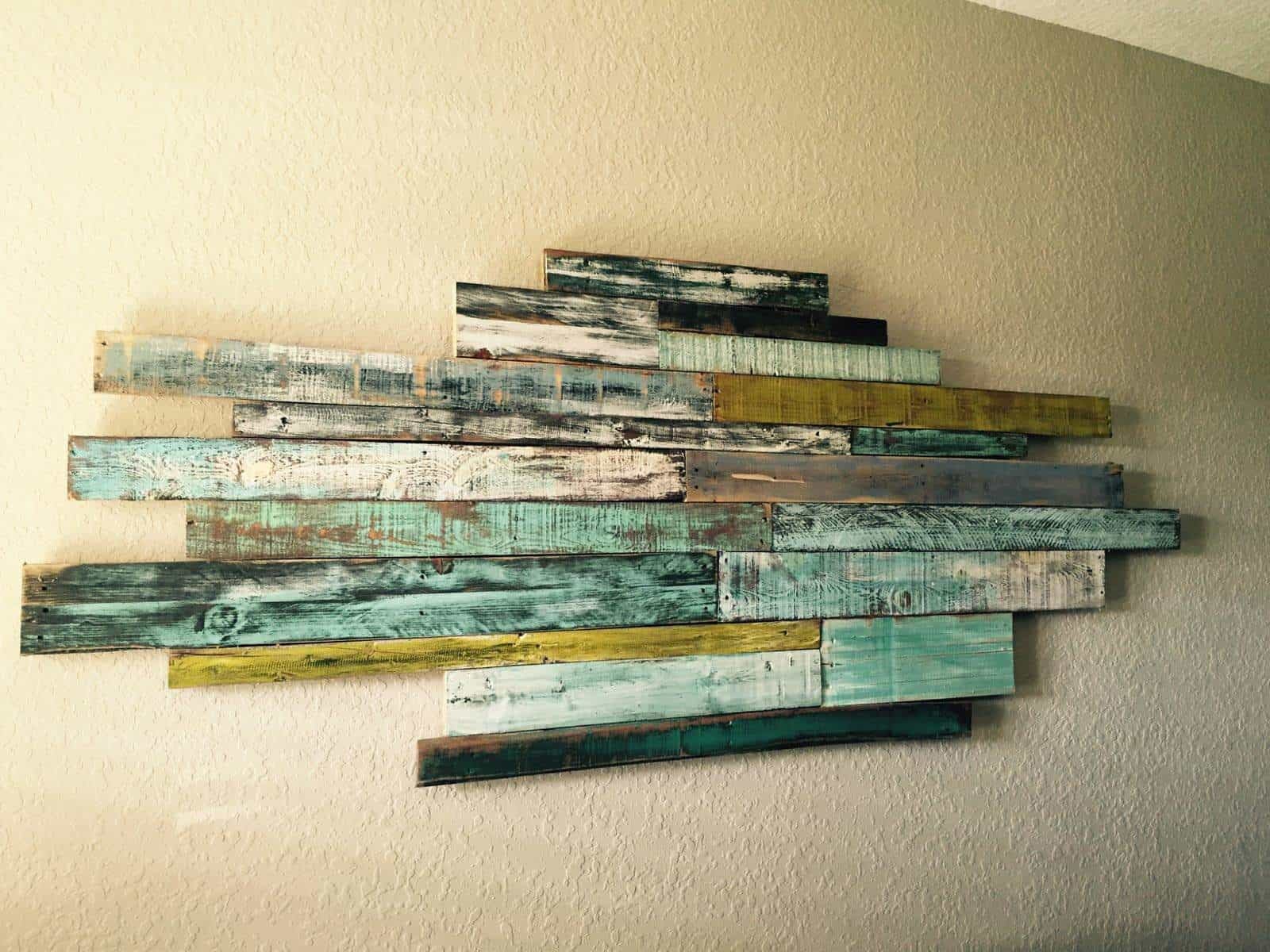 Pallet Wood Wall Art wednesdays wall art from reclaimed pallet wood • pallet ideas