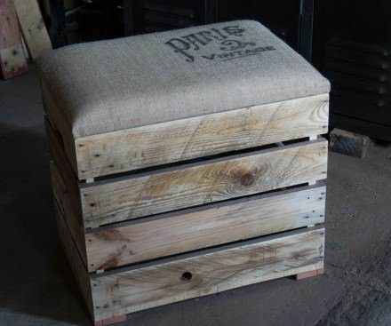 Boxes chests page 3 of 9 diy wood pallet projects - Banquette en palette de bois ...