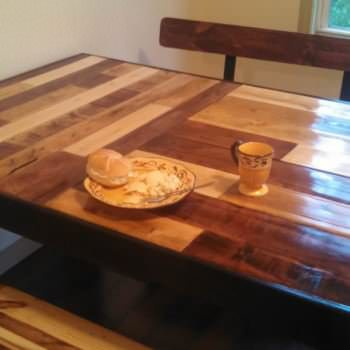 Kitchen Table And Benches From Repurposed Pallets