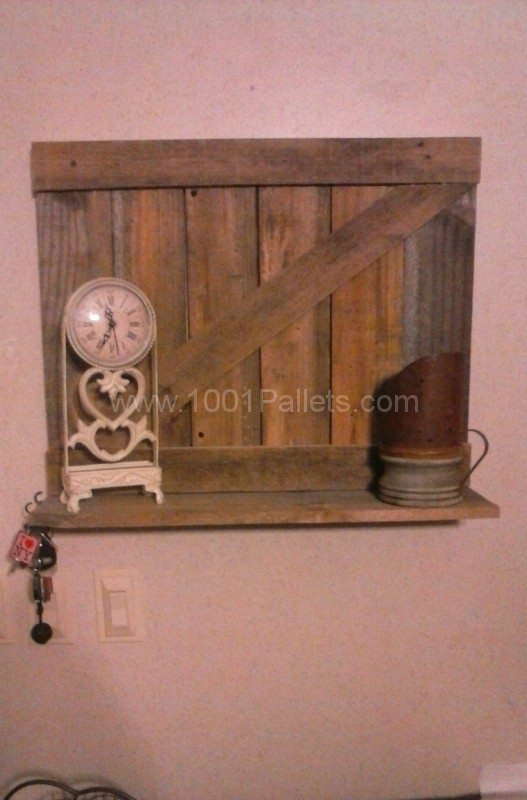 Pallet Wall Shelf Pallet Shelves & Pallet Coat Hangers
