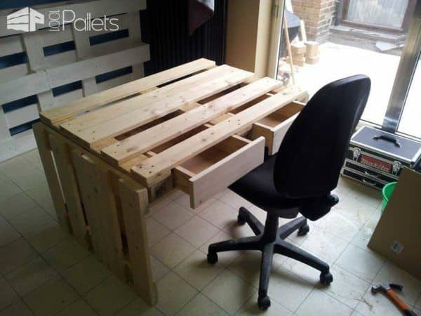 Back To School: Pallet Desk Example Pallet Desks & Pallet Tables