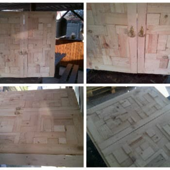 Bathroom Cabinet Door From Pallet Wood