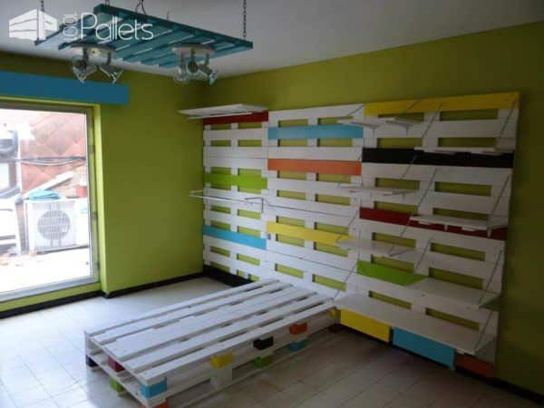 Bed & Wardrobe Rack Made From 28 Recycled Pallets Fun Pallet Crafts for Kids