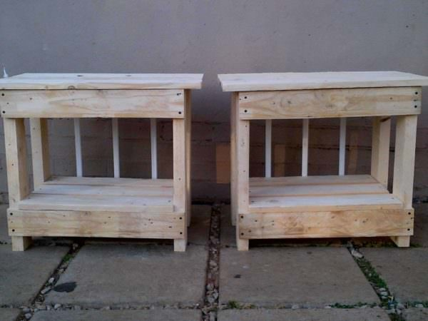 Bedside Table Pallet Beds, Pallet Headboards & Frames