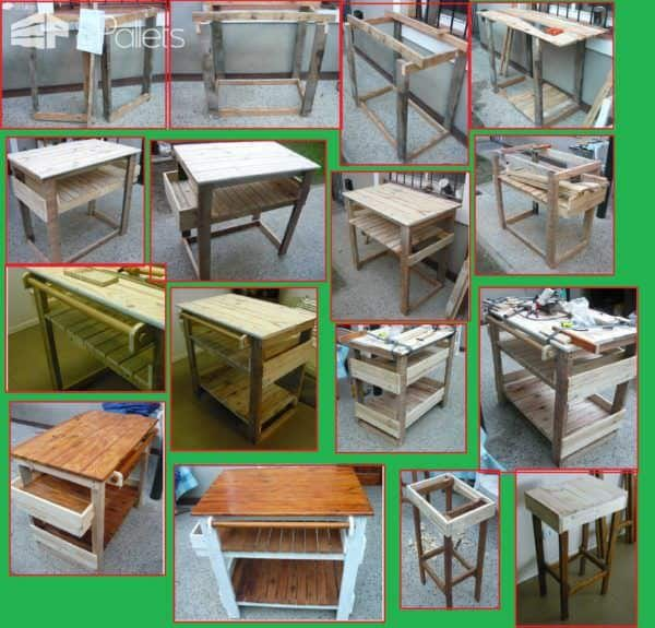 Chef Pallet Kitchen Island Table Pallet Desks & Pallet Tables