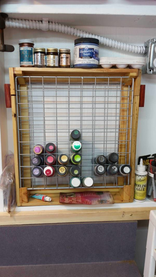 Craft Paint Pallet Rack or Pallet Caddy Pallet Shelves & Pallet Coat Hangers