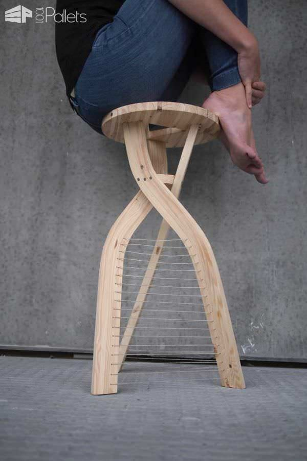 Design Stool From Shipping Pallet Wood Pallet Benches, Pallet Chairs & Pallet Stools