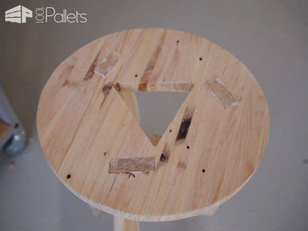 Design Stool From Shipping Pallet Wood Pallet Benches, Pallet Chairs & Stools