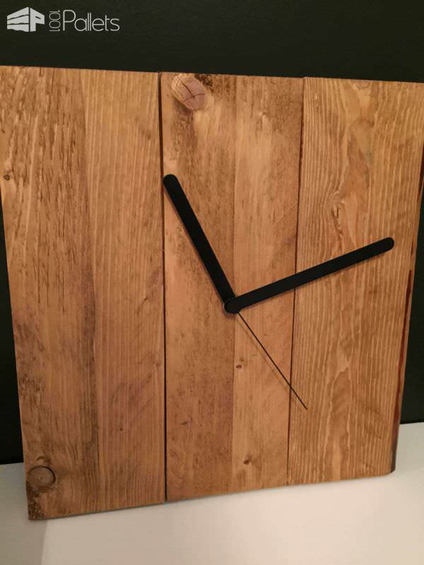 Diy Pallet Clock Pallet Clocks