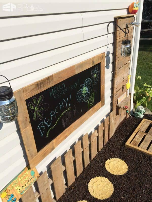 Diy Pallet Outdoor Shower Wall & Mat Lounges & Garden Sets