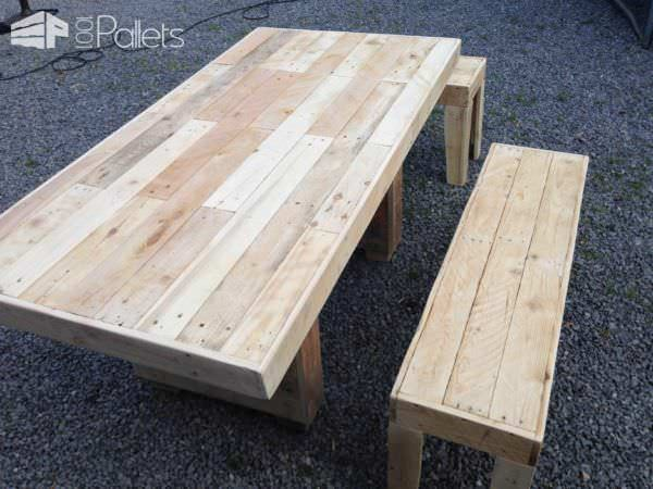 Nice Garden Table With Benches Pallet Benches, Pallet Chairs & Pallet Stools Pallet Desks & Pallet Tables