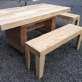 Nice Garden Table With Benches