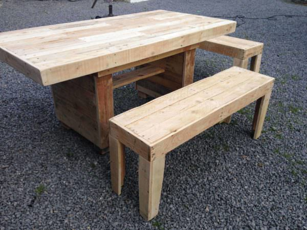 Nice Garden Table With Benches Pallet Benches, Pallet Chairs & Stools Pallet Desks & Pallet Tables